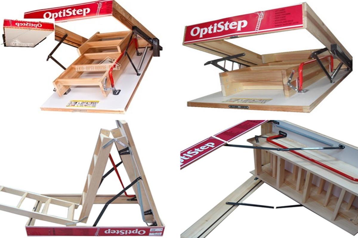 Optistep ahşap çatı merdivenleri